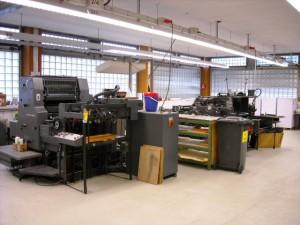 Druckerei in der JVA Bruchsal